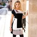 KaigeNina новый мода горячие женщины  сращивание платье  модный  просто  напечатаны   повыше колена1179
