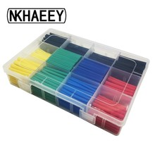530pcs Set Polyolefin Shrinking Assorted Heat Shrink Tube Wire Cable Insulated Sleeving Tubing CLH@8