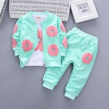 3cfe4bad53f62 Bebek Kız Giyim Seti 2019 Kış Moda Çocuk Giyim Çocuk Bebek Spor Takım Elbise  Pamuk Eşofman Giysi için 1 2 3 4 yıl