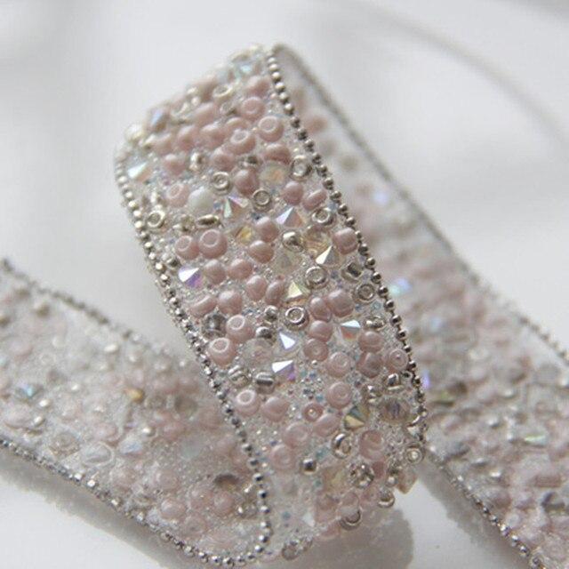 Fashion Beaded Lace Border Faux Pearl Diamond Beads Diy