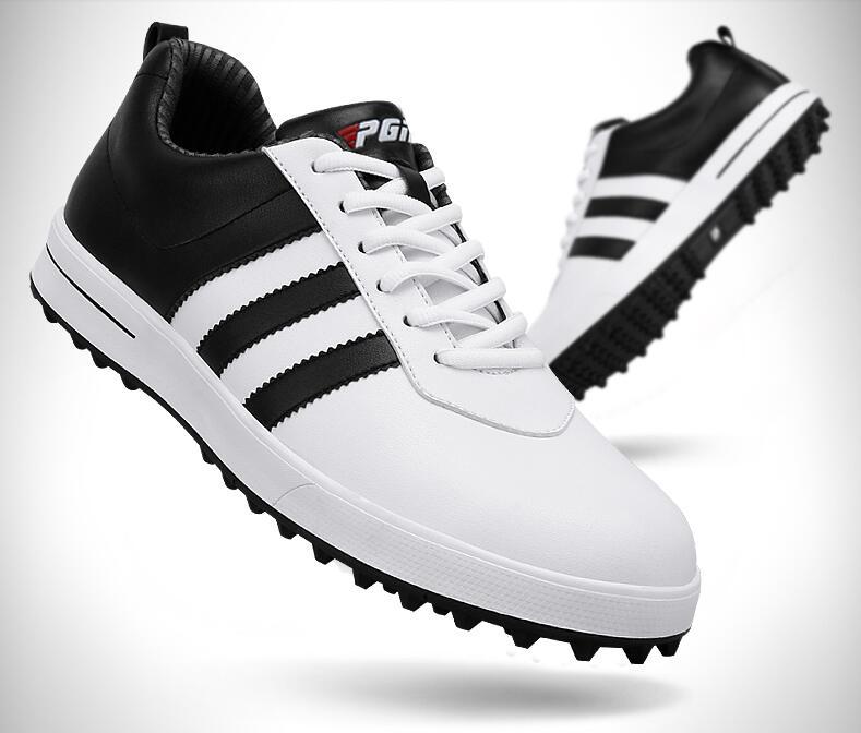 Высокое качество! PGM Гольф Мужская обувь из воловьей кожи спортивные туфли супер водонепроницаемый дышащий без шипы, Бесплатная доставка!