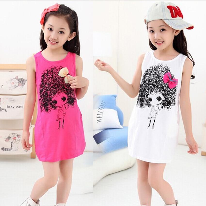 Girls Dresses Summer 2016 Dress Girl Kids Clothes Cotton -1749