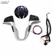 PUFEITE-Botón de volante para Hyundai VERNA SOLARIS, botón de control de música y volumen de audio