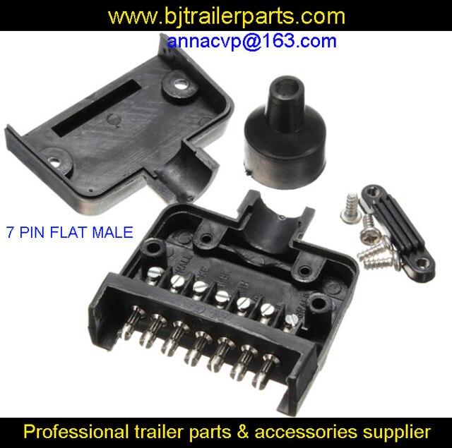 7 pin flach männlichen anhänger stecker stecker/boot/wohnwagen ...