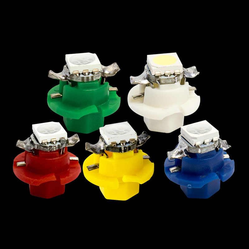 T5 B8.4D 1 SMD 5050 LED Wedge Lamp 8.4D Car Dashboard warming indicator Bulb B8.4 Auto Instrument Panel Lights 12V DC