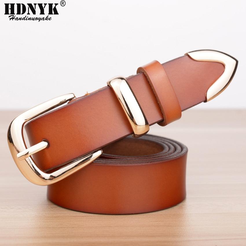 Prawdziwy Cowskin Leather Fashion Designer Belt Kobiety marki Belt - Akcesoria odzieżowe - Zdjęcie 2