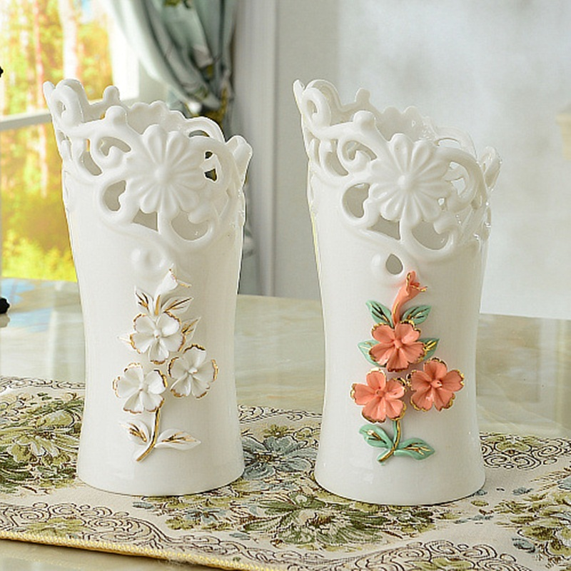 Modern Minimalist Creative Ceramics Vase Flower Ornaments For Living Room Decor Home Furnishing Hotel Gifts In Vases From Garden On
