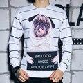 Top Quality Pug Gog Stripe With White 3D Printed Sweatshirt Men/Women 0-Neck Long Sleeves Casual Couple Hoody Sportwear Tops