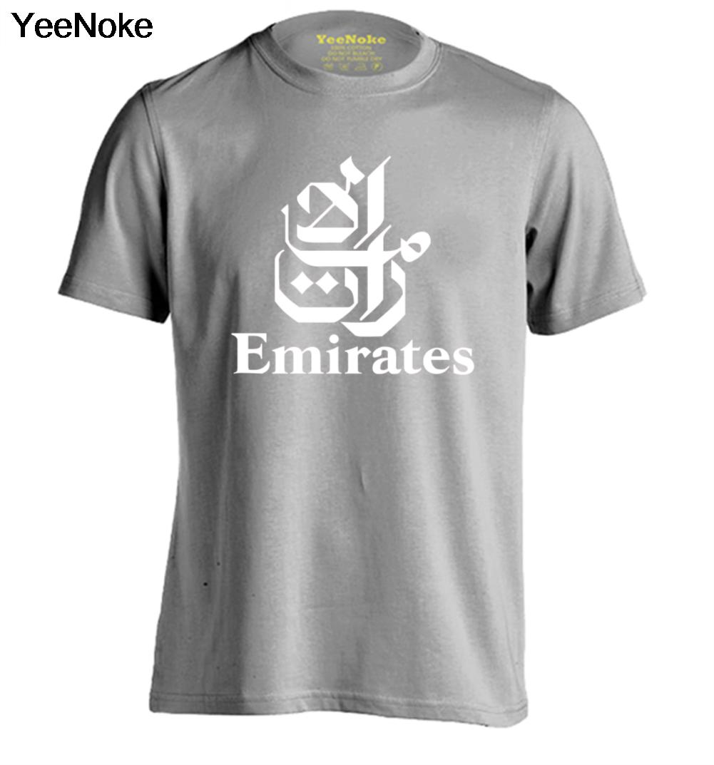FLY EMIRATES Airlines Mens & Womens Design T Shirt Fitness T Shirt