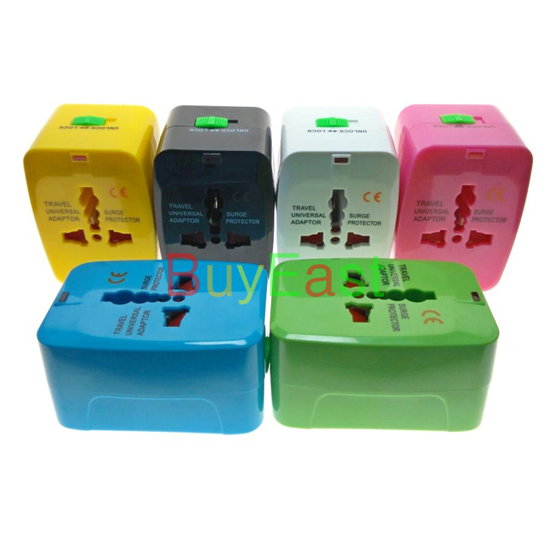 free shipping universal all in one travel plug adapter. Black Bedroom Furniture Sets. Home Design Ideas