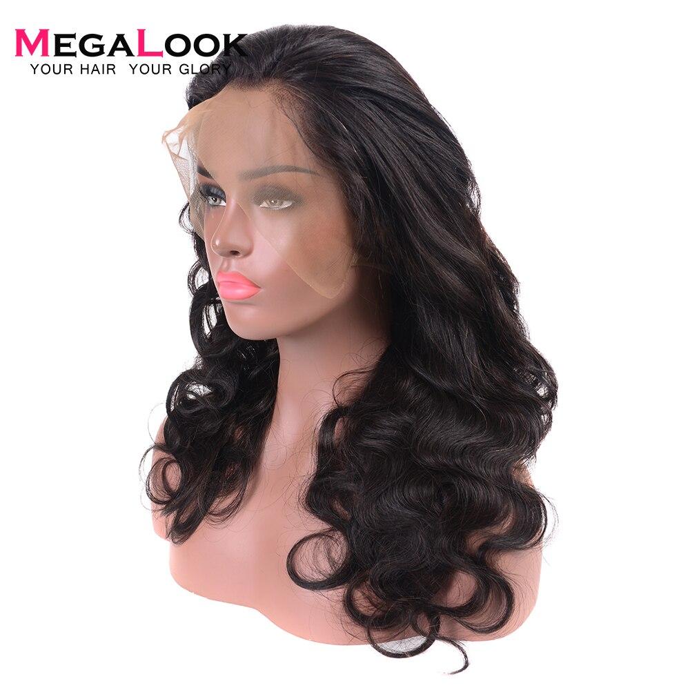 26 zoll 180% Dichte 360 Spitze Vorne Perücke Brasilianische Körper Welle Menschenhaar Spitze Front Perücke Gezupft mit Baby Haar natürliche Farbe Remy