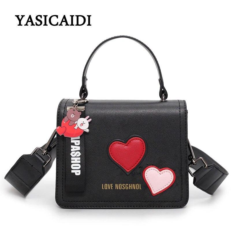 Designer Women Shoulder Bags High Quality Pu Leather Female Handbags Luxury Flap Tassel Letter Heart Women Brand Tote Bags