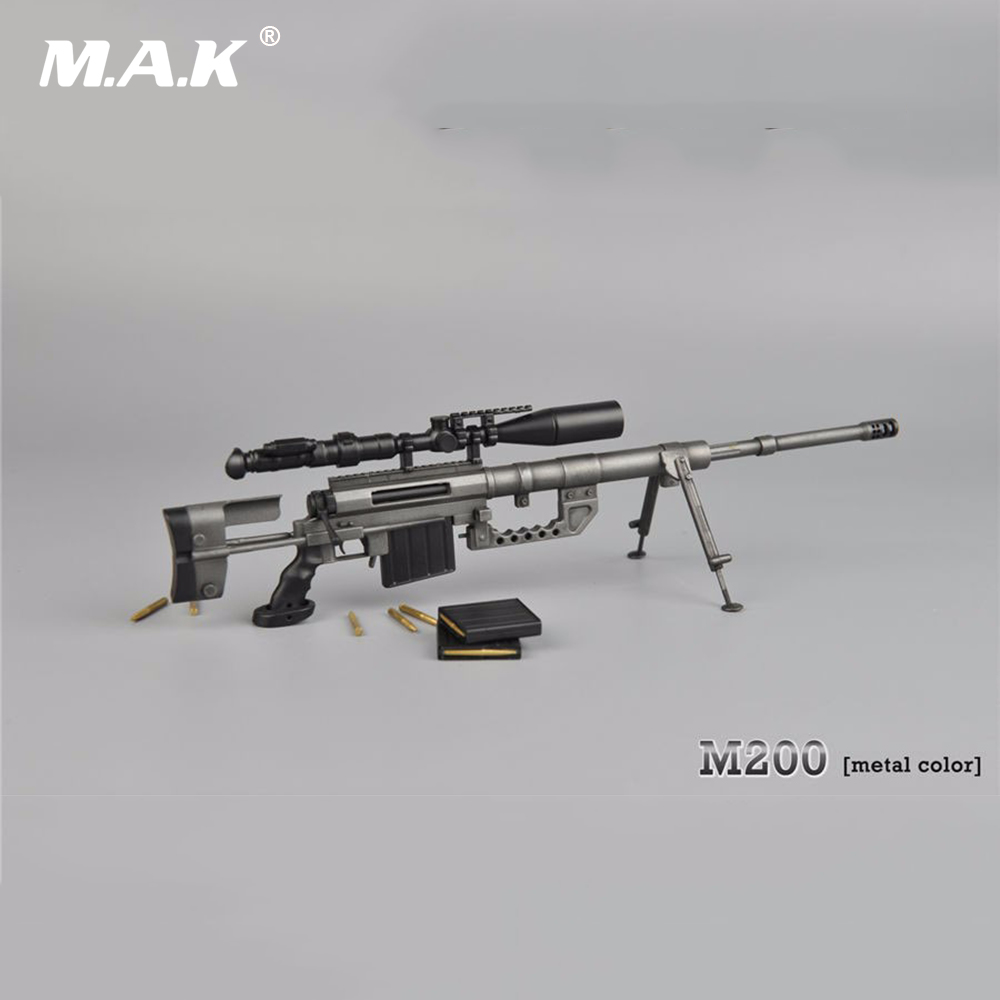 1/6 Scale Soldier Army Weapons Model Toys M-200 Sniper Rifle Gun Model Kids Toys Gifts Collections wwii 17 5 cm weapon model 1 6 scale rifle sniper gun model toys for action alloy men game model jsuny toy