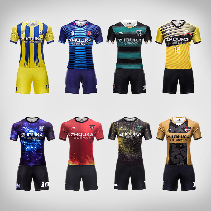 Custom sublimation blank soccer uniforms kit professional design football  team shirt quick dry breathable mens football jerseys-in Soccer Sets from  Sports ... f3ab206e7