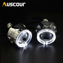 2 5inch car styling hid bixenon Projector lens led day running DRL angel eyes car assembly