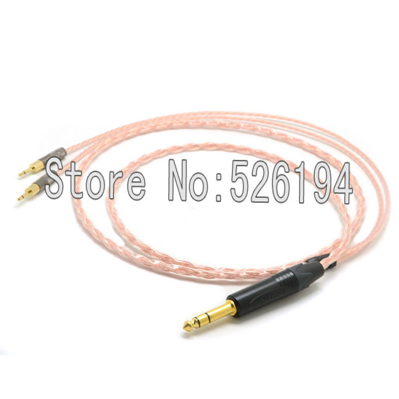 Free shipping 1.2Meter/pieces 6.35 mm auido cable 5N OFC pure copper Audio Upgrade Cable for HD700 HD 700 Headphones weiliang auido