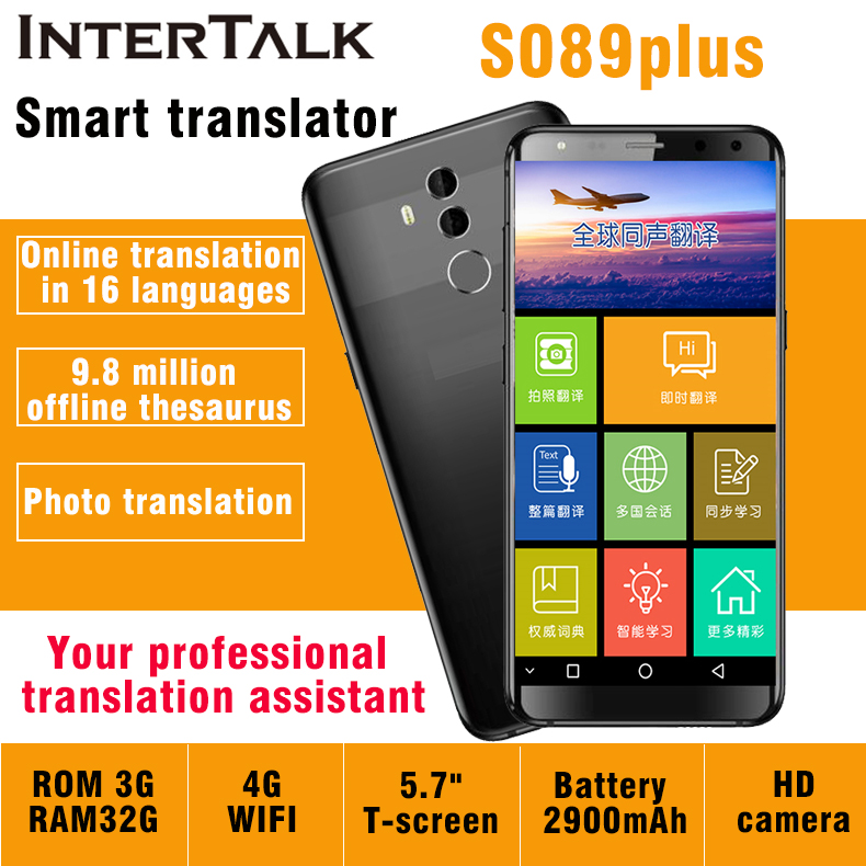 Simultaneous Translator Intertalk S089 New Arrival 16 Languages Interactive Translation Cell Phone Voice Translator Tablet 32gb Tablet 32gb Tablet Tablettablets Phone Tablets Aliexpress
