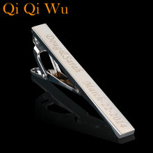 811396b7c584 Qi Qi Wu Personalized Custom Silver Tie Clip For Men's Jewelry Customized  Engraved Name tie bar Wedding Gifts Groom Men Tie Pin