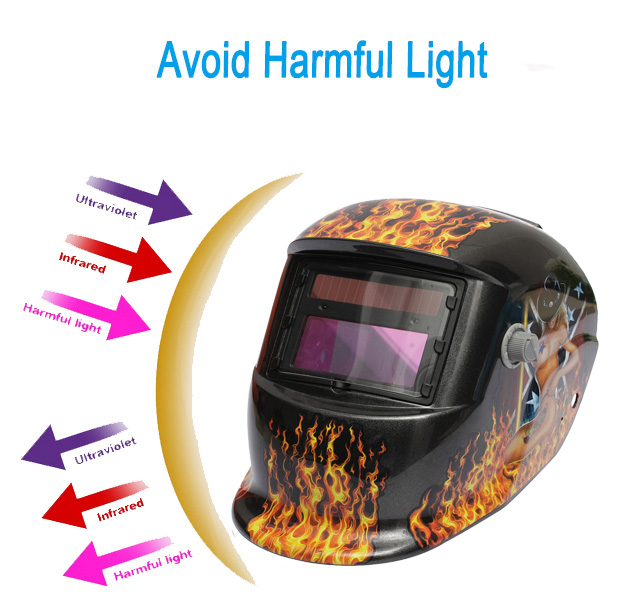 Hot Girl Solar Auto Darkening Welding mask / Helmet / Welder cap / Lens Welding/Flow Brazing/Welding TIG MIG MMA Electric