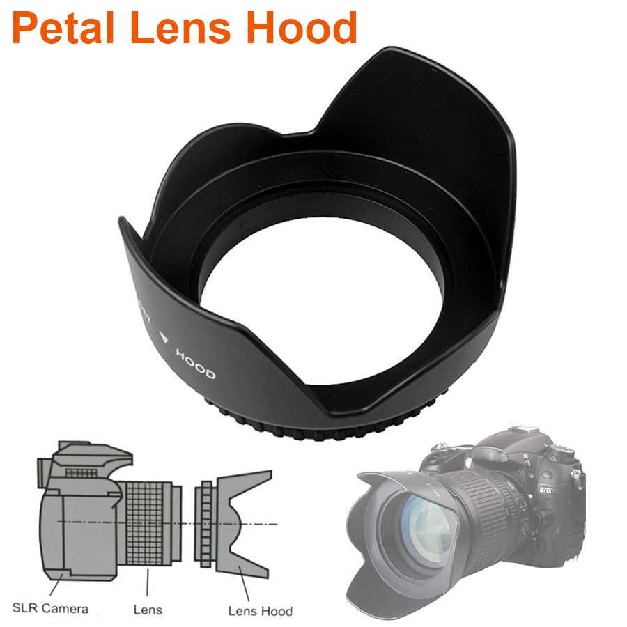 Universal Petal Lens <font><b>Hood</b></font> 49mm <font><b>52mm</b></font> 58mm 55mm 62mm 67mm 72mm 77mm 82mm Screw-in Tulip Flower Filter Thread Camera Lente Protect image