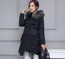 Anyasági téli kabátok 2016 új faux szőrme nyakörvvel lefelé Parka anyasági terhes gubacsos melegruházat női dzsekik és kabátok
