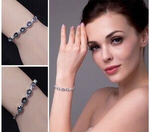 Image 4 - JewelryPalace Natural Mystic Topaz 925เงินสเตอร์ลิงสร้อยข้อมือเทนนิสอัญมณีสร้อยข้อมือผู้หญิงเงิน925ทำ