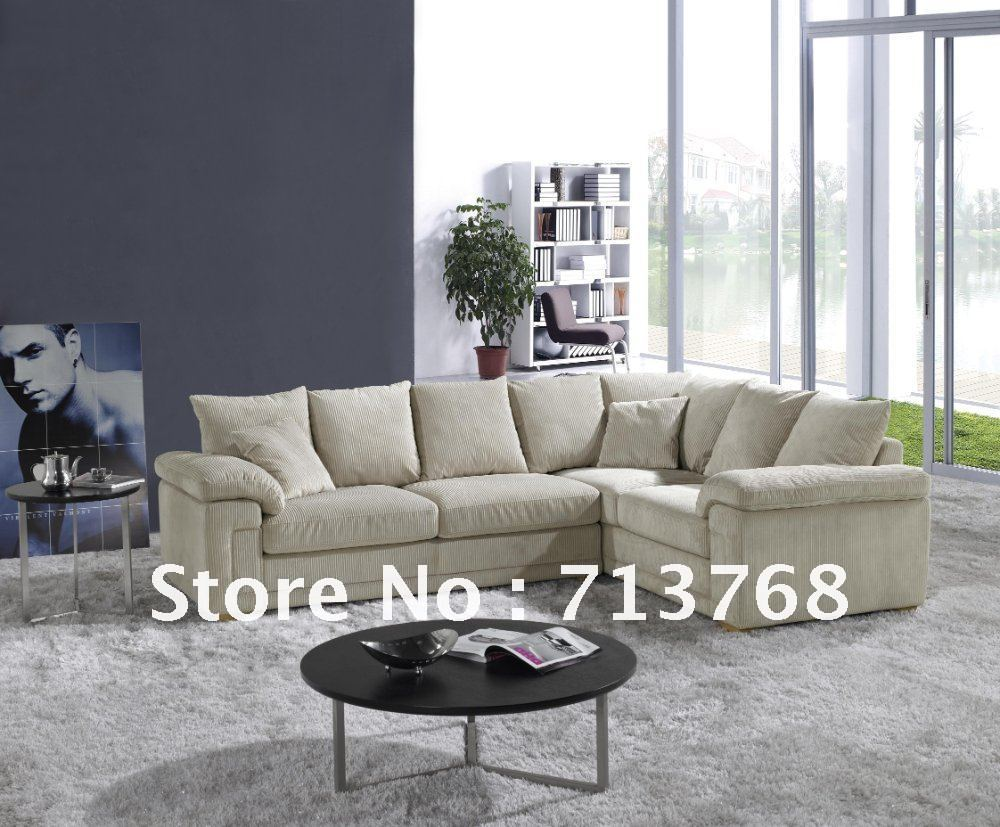 Modern Living Room  Sectional  Fabric Sofa With Pillows  MCNO9801