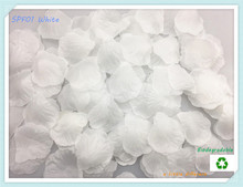 1lot(100pcs)Size2″x2″(5x5cm) White Silk Rose Flower Petal Leaves For Wedding Aisle Flower Girl Baskets Supplies