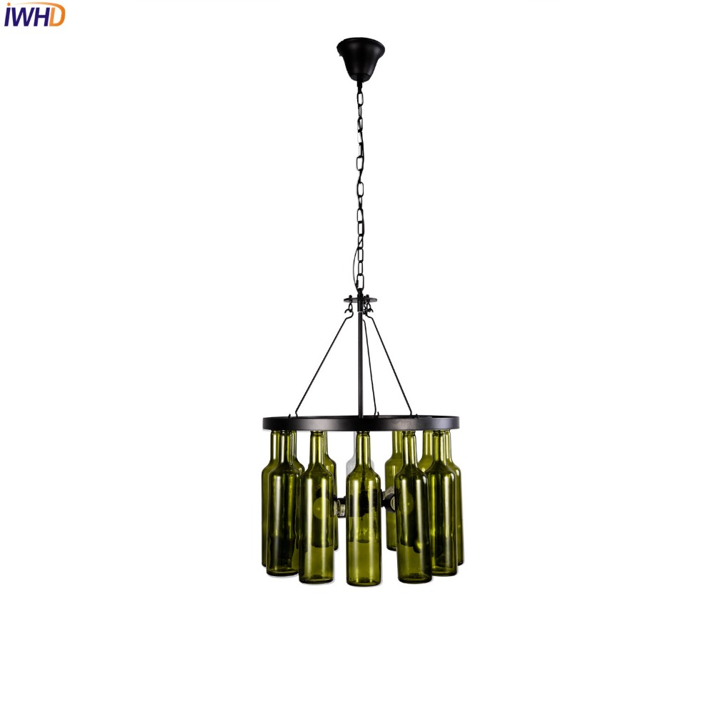 IWHD American Country LED Pendant Light Fixtures Dinning Room Glass Bottle Vintage Industrial Lamp Lamparas Colgantes iwhd glass style loft industrial pendant lighting fixtures dinning room american bombilla edison led vintage lamp light lampara