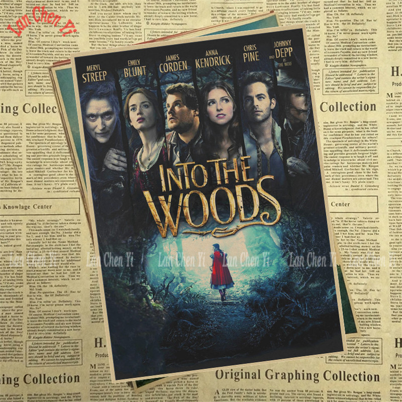 Into the woods Matte Kraft Paper Poster Office Gift Room Dining Home Decor wall sticker Design