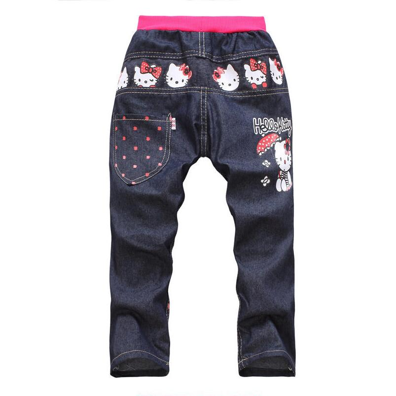 Free shipping 2017 New spring Autumn Girls jeans kids clothing Kids jeans minnie mouse trousers children single pants