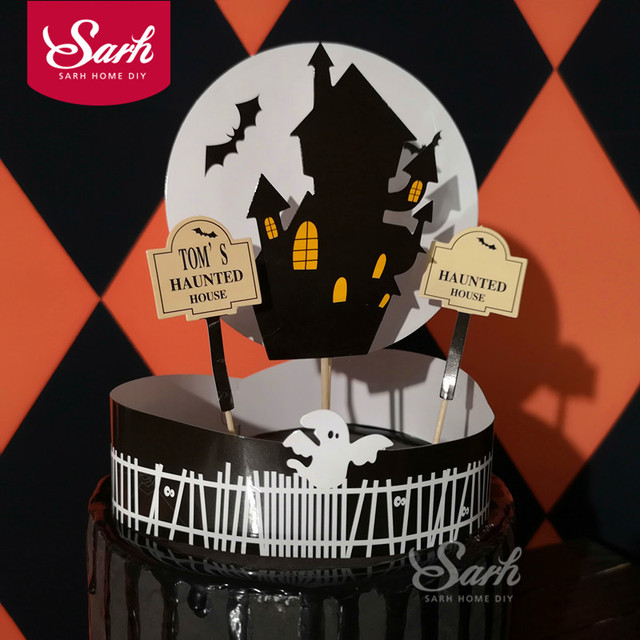 Aliexpress Buy Halloween Vampire Castle Bat Ghost Spider Cake