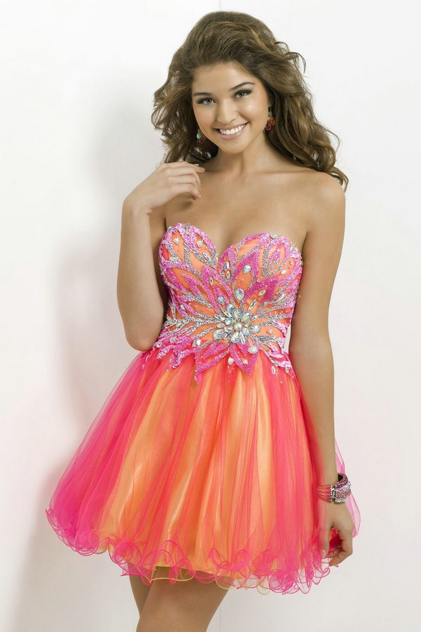 Hot Pink and Lime Green Prom Dresses_Prom Dresses_dressesss