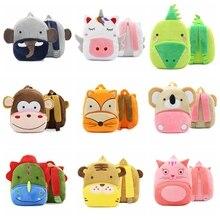 13Style Lovely Kids Plush Backpack Animal Monkey Koala Pig Cat Fox Giraffe Elephant Cartoon Bags For Childrens Gift Boy