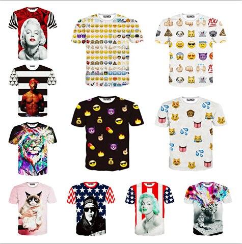 Hot fashion emoji t shirt hot style emoticons tshirt summer funny clothes men/boy top tees t-shirt clothing