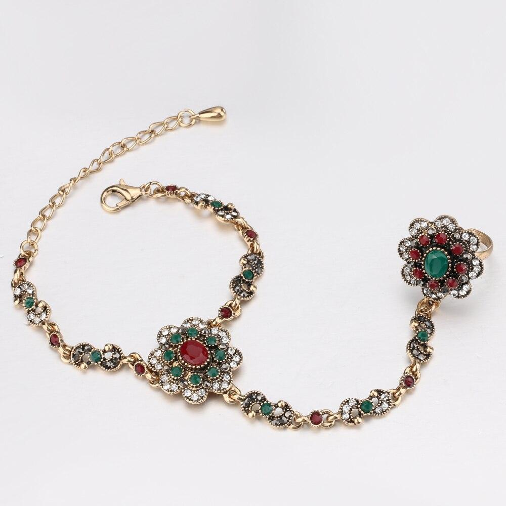 Kinel-Dubai-Jewelry-Sets-Bracelet-Link-Rings-For-Women-Antique-Gold-Color-Colorful-Resin-Crystal-Flower (2)