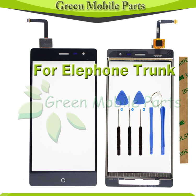100% Tested 5.0 inch Touch Sensor For Elephone Trunk Touch Screen With Digitizer PanelWith Tools+3M Sticker+Track
