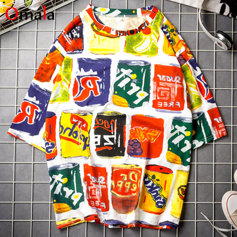 57230c28e79d Camisetas mujeres camisetas Simple coreana suelta impresión t camisa  harajuku ulzzang oversize de ...