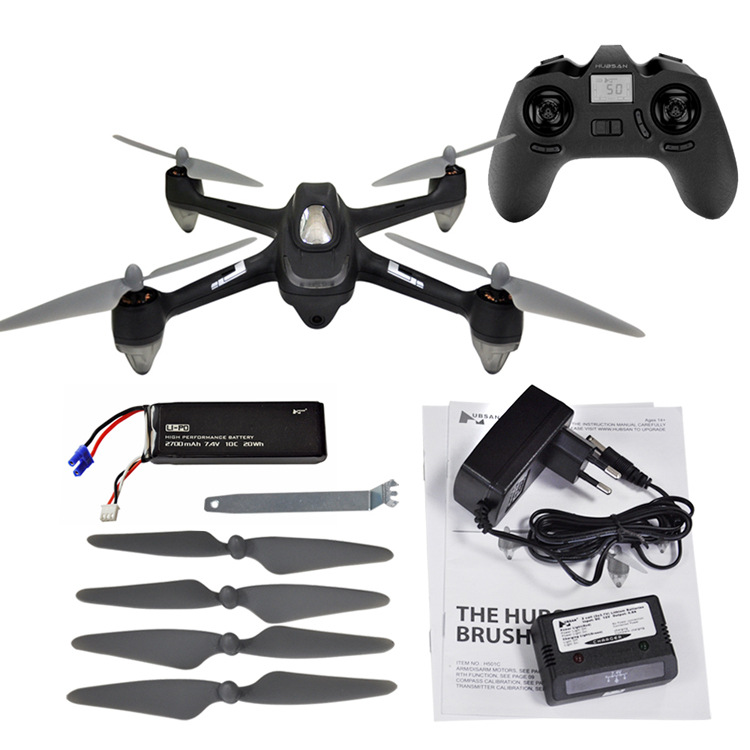 HUBSAN H501C X4 1080P Camera Brushless Quadcopter GPS Automatic Return RC Drone for Beginners lipo battery 7 4v 2700mah 10c 5pcs batteies with cable for charger hubsan h501s h501c x4 rc quadcopter airplane drone spare