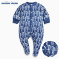 Spring Toddler Infant Baby Rompers Elephant Printing Jumpsuits Newborn Boys Girls F Outfits One piece Children Clothing
