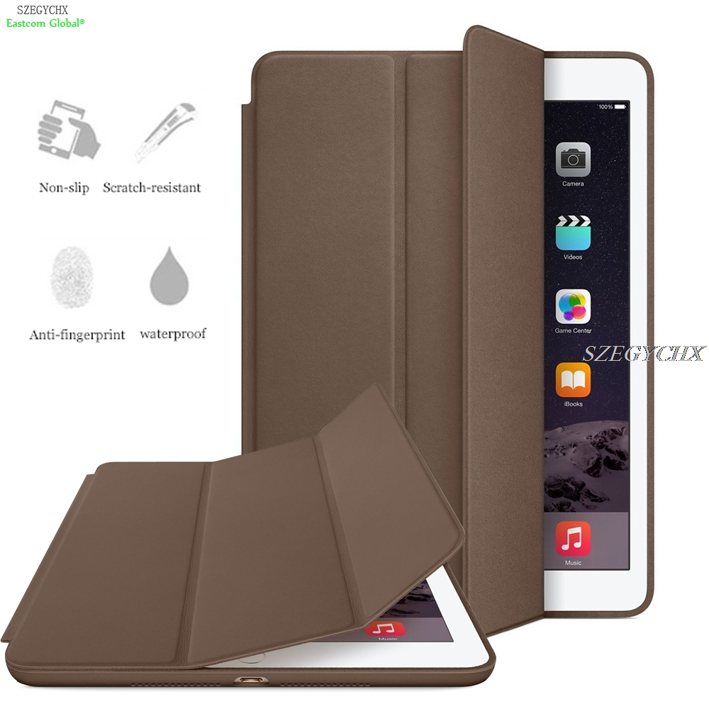 SZEGYCHX Original 1:1 Ultra Slim Smart Cover Case For apple iPad 9.7 2017 Stand For New ipad 9.7 Auto Wake / Sleep with LOGO case for apple ipad mini 4 szegychx original 1 1 ultra slim smart cover stand for ipad case auto wake sleep with logo