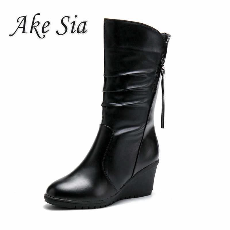 2019 winter damen mode vielseitig komfortable flach mund schnee stiefel frauen casual Zip pu plus baumwolle warme stiefel mujer c78
