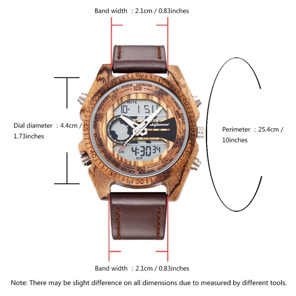 top luxury brand Shifenmei 2139 Antique Mens Zebra and Ebony Wood Watches with Double Display Business Watch in Wooden digital quartz watch drop shipping 2019 (28)