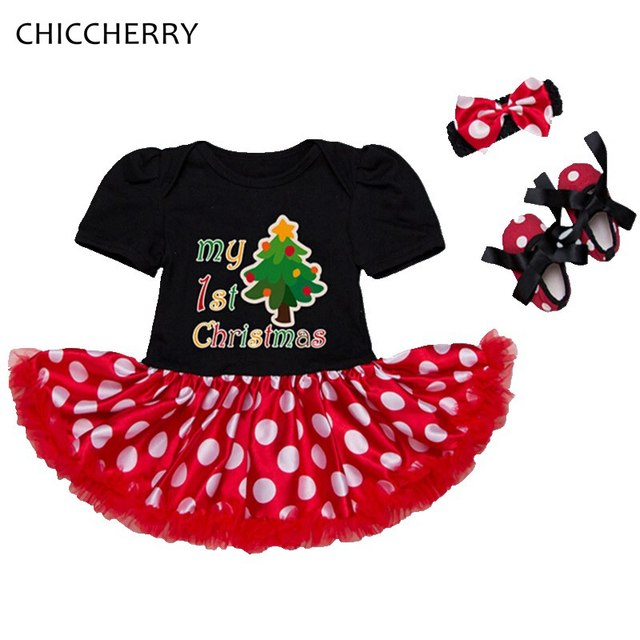 tree my first christmas costume baby girl clothes petti romper dress headband shoes infant christmas outfit