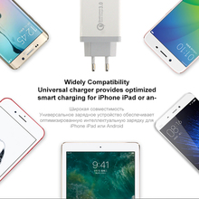 AIXXCO 3 Ports Quick Charger QC 3.0 30W USB Charger For iphone 7 8 ipad Samsung S8 Huawei Xiaomi Fast Charger QC3.0 EU/US Plug