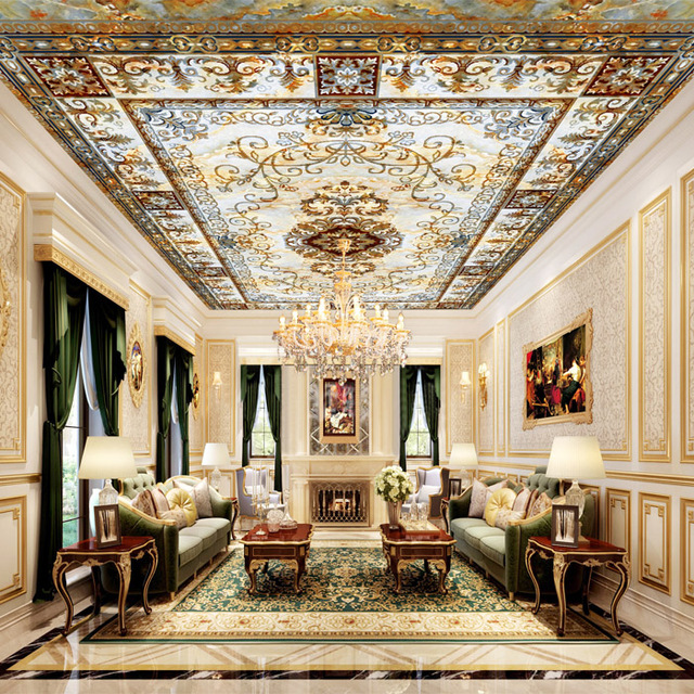 Wholesale 3d Ceiling Mural Wallpaper Royal Ceiling Mural For Living