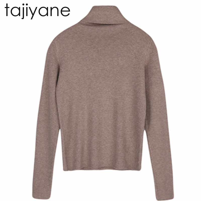 TAJIYANE Women Onesize Basic Knitted Turtleneck Sweater Female Solid Turtleneck Collar Pullovers Warm 2018 New Hot Arrival LD243