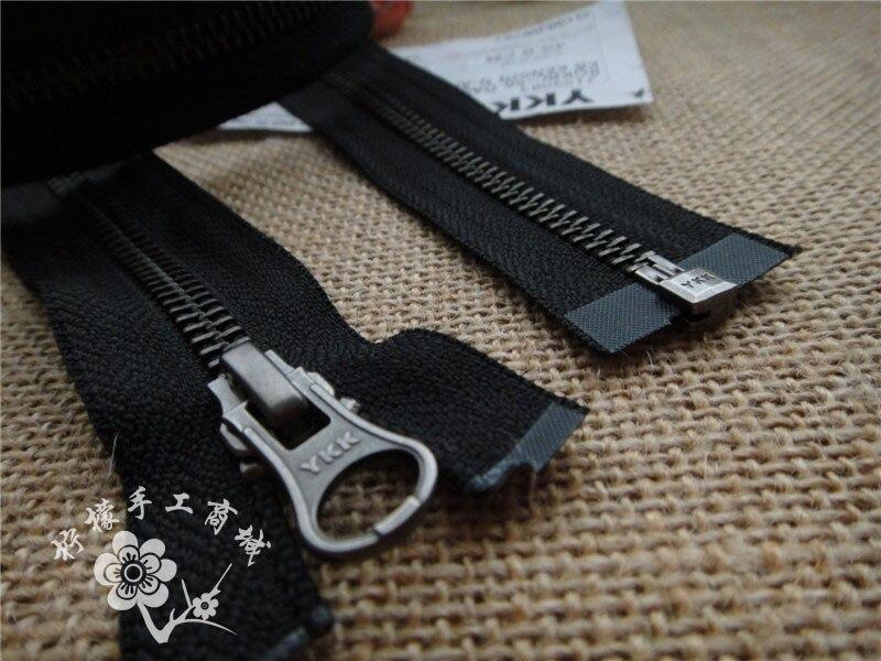 YKK5   métal argent glissière unique ouvert 50-80 cm noir cardigan bas  veste sacs ff63d6c1d85