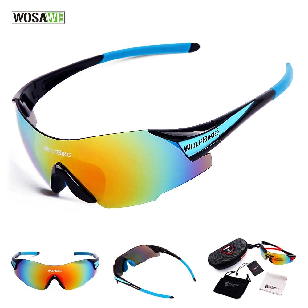 WOSAWE UV400 Cycling Glasses Outdoor Sports Bicycle Glasses Bike Sunglasses Men Women Gafas Bicicleta MTB Goggles Eyewear 1 LENS