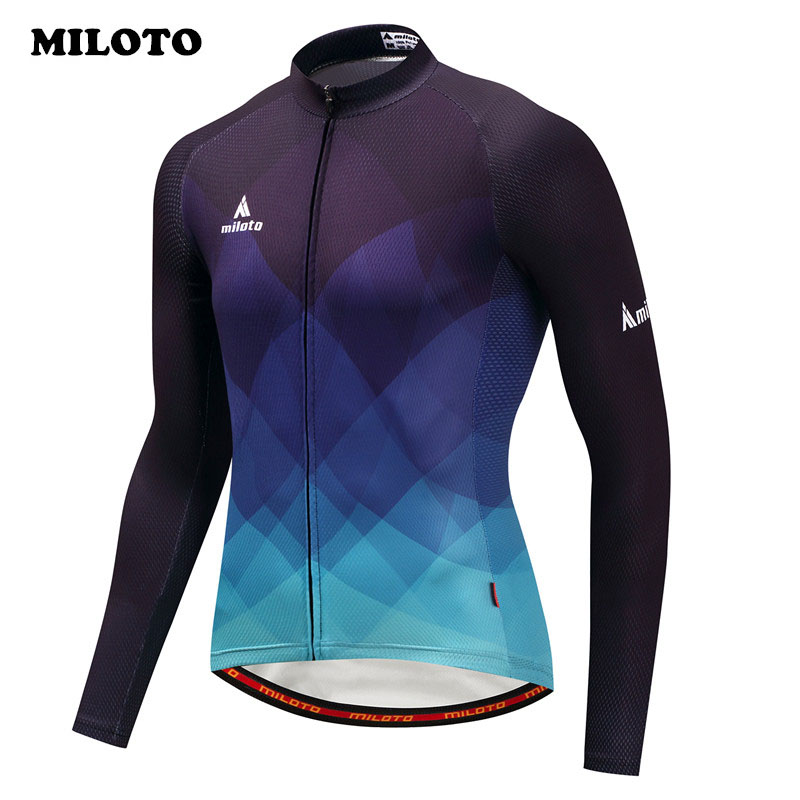Miloto 2019 Autumn Cycling Jersey Long Sleeve Men Racing Bicycle Cycling Clothing Ropa Ciclismo pro team mtb Bike Jersey Shirt